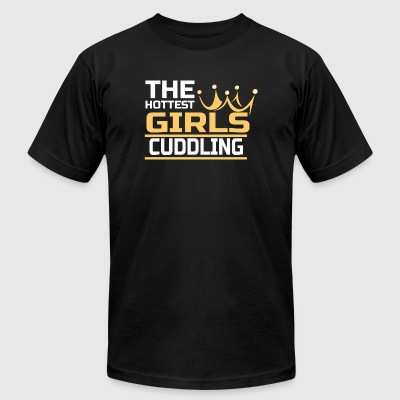 Cuddling - the hottest girls cuddling - Men's T-Shirt by American Apparel