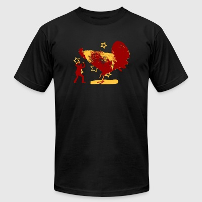 Rooster - Attack of the Giant Rooster - Men's T-Shirt by American Apparel