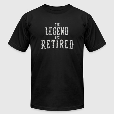Retired - The Legend Has Retired - Vintage Novel - Men's T-Shirt by American Apparel