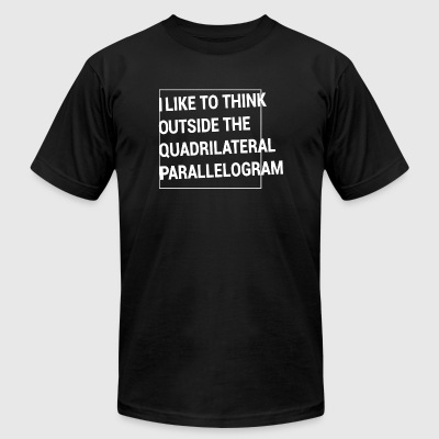 Parallelogram - Think Outside the Quadrilateral - Men's T-Shirt by American Apparel