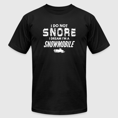 Snowmobile - Funny Snore Like a Snowmobile Snor - Men's T-Shirt by American Apparel