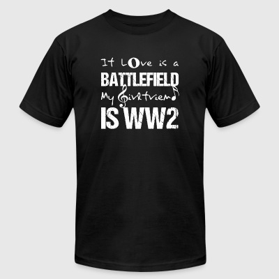 Battlefield - if love is a battlefield my girlfr - Men's T-Shirt by American Apparel