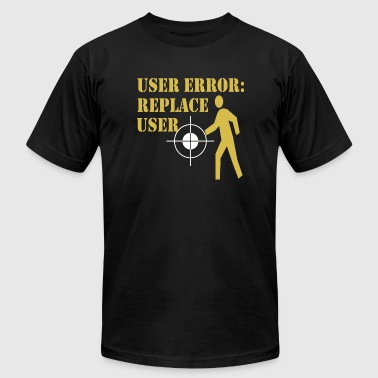 Joke - User Error (Black) - Men's T-Shirt by American Apparel