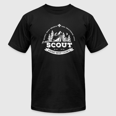 Scout - A real scout knows what counts - Men's Fine Jersey T-Shirt