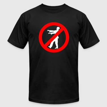 Zombie - No Zombies - Men's T-Shirt by American Apparel