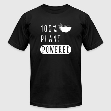 Vegan - Plant Powered Funny Vegan Green - Men's T-Shirt by American Apparel
