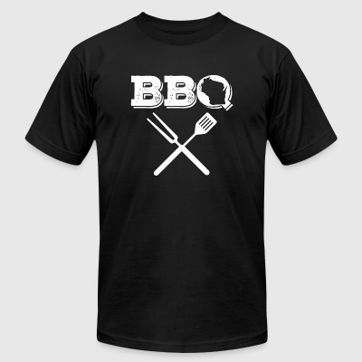 Wisconsin - Wisconsin BBQ Best Barbecue Ribs Mea - Men's T-Shirt by American Apparel