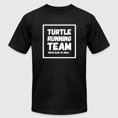 Running - Turtle running team we - Men's T-Shirt by American Apparel