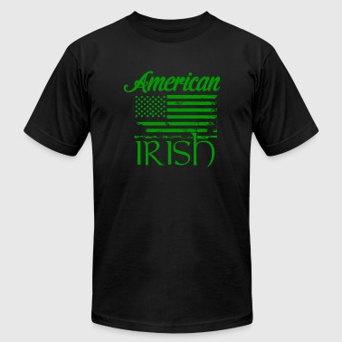 St patricks day - American Flag Irish Shirt St. - Men's Fine Jersey T-Shirt