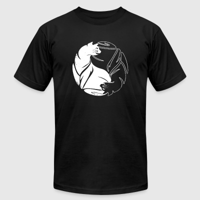 Yin Yang Cat - Yin Yang Cat - Men's T-Shirt by American Apparel