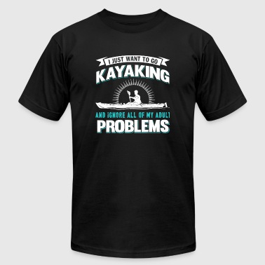 Kayaking - I Just Want To Go Kayaking T Shirt - Men's Fine Jersey T-Shirt