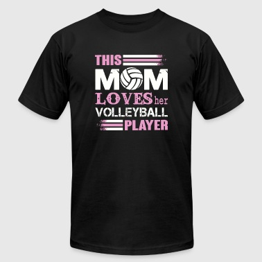 Volleyball - This Mom Love Her Volleyball Player - Men's T-Shirt by American Apparel
