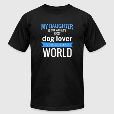 Dog lover - my daughter is the world's best dog - Men's Fine Jersey T-Shirt