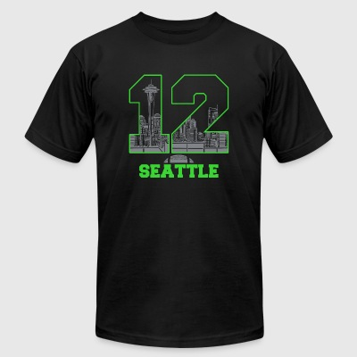 SEATTLE - 12 SEATTLE - Men's T-Shirt by American Apparel