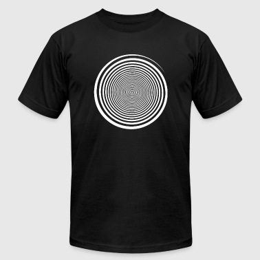 Trippy - White Swirl Self Hypnosis - Hypnotic Tr - Men's T-Shirt by American Apparel
