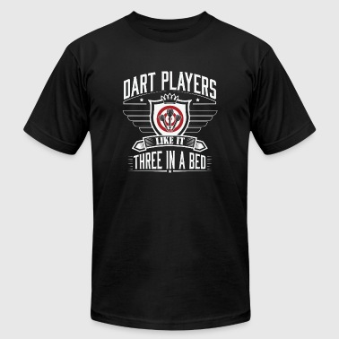 Dart - Dart players like it three in bed - Men's T-Shirt by American Apparel