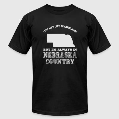 Nebraska - Nebraska Country - Men's T-Shirt by American Apparel