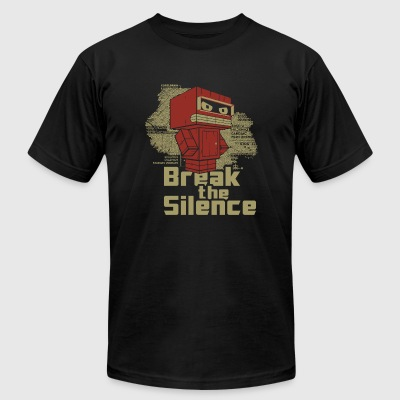 Robot - Break the Silence - Men's T-Shirt by American Apparel