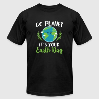 Earth Day - Go Planet It's Your Earth Day - Men's T-Shirt by American Apparel