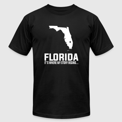 Florida - Florida is where my story begins - Men's T-Shirt by American Apparel