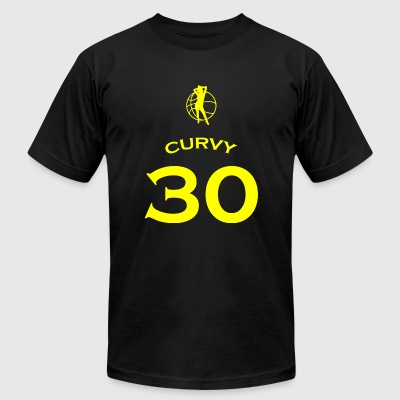 Basketball - curvy basketball jersey shirt - Men's T-Shirt by American Apparel