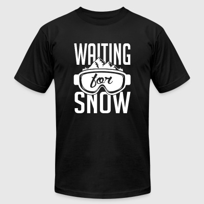 Skiing - Skiing: Waiting for snow - Men's T-Shirt by American Apparel