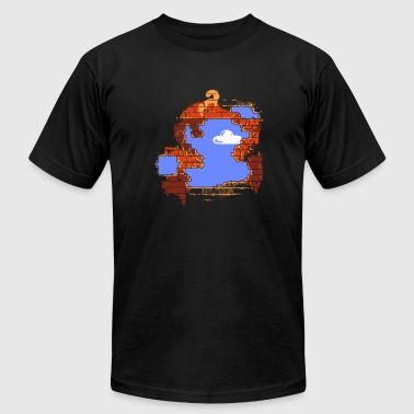 Mario - Brick Breaker - Men's Fine Jersey T-Shirt