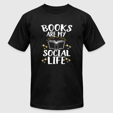 Book - Books Are My Social Life - Men's T-Shirt by American Apparel