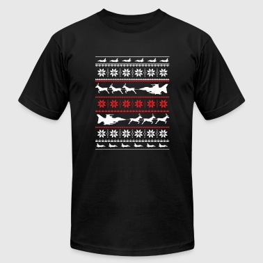 Christmas sweater for fighter jet lover - Men's Fine Jersey T-Shirt