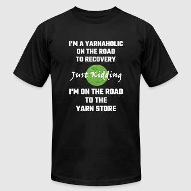 Yarnaholic - I'm A Yarnaholic On The Road To Rec - Men's Fine Jersey T-Shirt