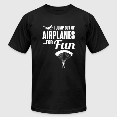 Skydiver - I jump out of airplanes... for fun! - Men's Fine Jersey T-Shirt