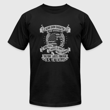 Army veteran Scars show character blood washes o - Men's Fine Jersey T-Shirt
