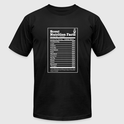 Scout nutrition facts - Hungry trustworthy loyal - Men's T-Shirt by American Apparel