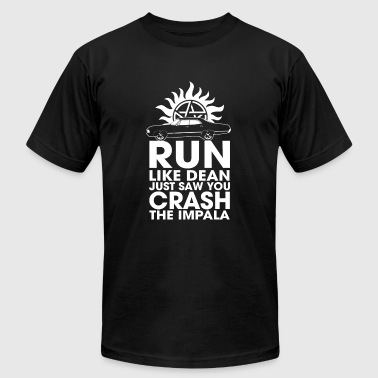 Run like Dean just saw you crash the Impala - Men's T-Shirt by American Apparel