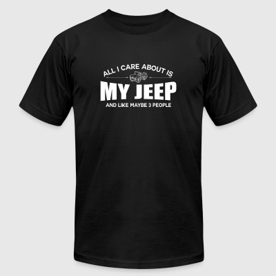 Jeep - All I care about is my jeep - Men's T-Shirt by American Apparel