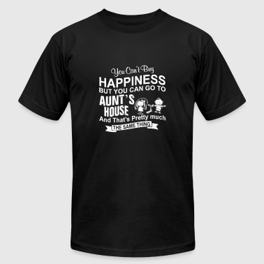 Aunt - You can go to aun't house to be happy - Men's T-Shirt by American Apparel