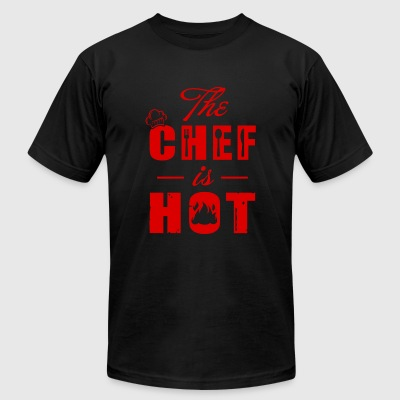 Chef - the chef is hot - Men's T-Shirt by American Apparel