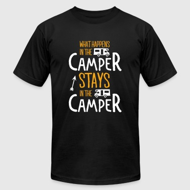 Camper - What happens in the camper stays in the - Men's Fine Jersey T-Shirt