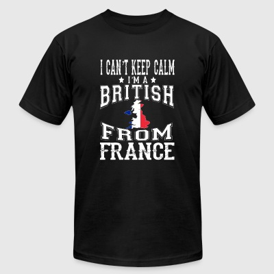 France - Can't keep calm I'm a British from Fran - Men's T-Shirt by American Apparel