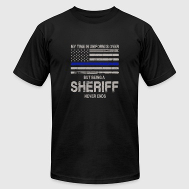 Sheriff never ends - My time in uniform is over - Men's Fine Jersey T-Shirt