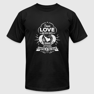Idaho - Idaho lives forever in the heart t-shirt - Men's T-Shirt by American Apparel