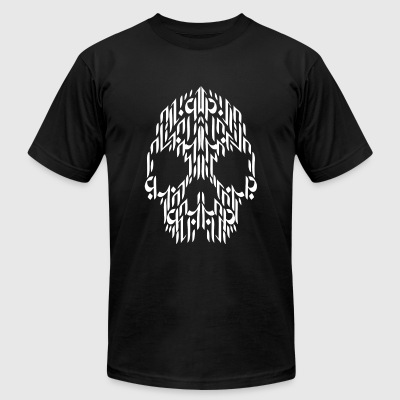 Calligraphy - Calligraphy Skull - Men's T-Shirt by American Apparel