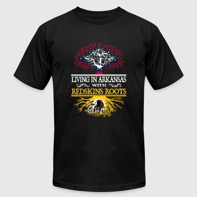 Redskins roots living in Arkansas - Men's T-Shirt by American Apparel