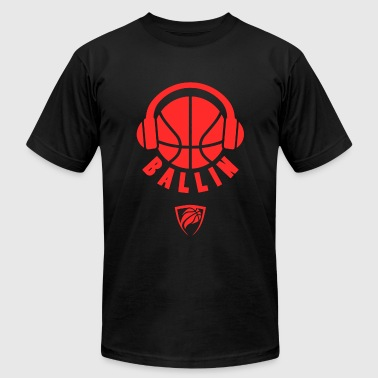 Ballin - Ballin Headphones Basketball - Men's Fine Jersey T-Shirt