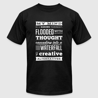 My mind - Raging torrent flooded with thought - Men's Fine Jersey T-Shirt