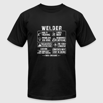 Welder - Long hours may cause binge drinking - Men's T-Shirt by American Apparel