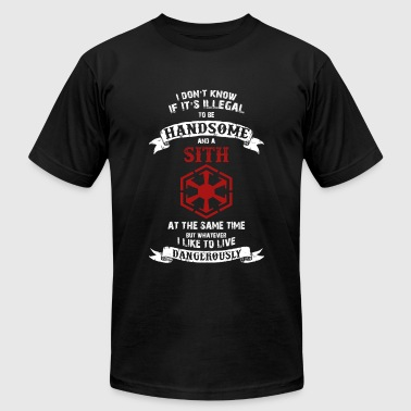 Sith - If it's illegal to be handsome and a Sith - Men's Fine Jersey T-Shirt