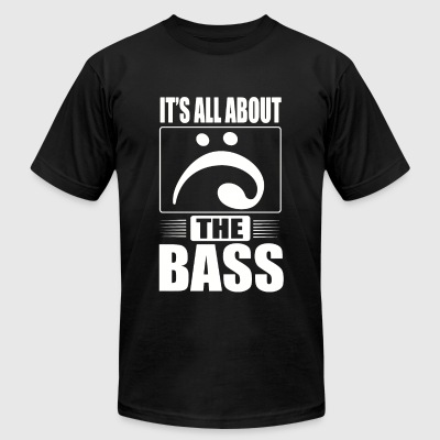 Music - It's all about the bass - Men's T-Shirt by American Apparel