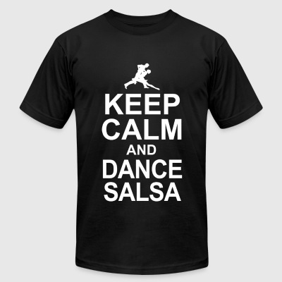 Dance salsa - keep calm and dance salsa - Men's T-Shirt by American Apparel