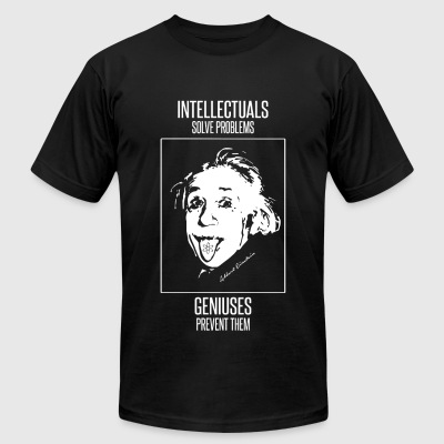 Einstein - Einstein -- Intellectuals Solve Probl - Men's T-Shirt by American Apparel